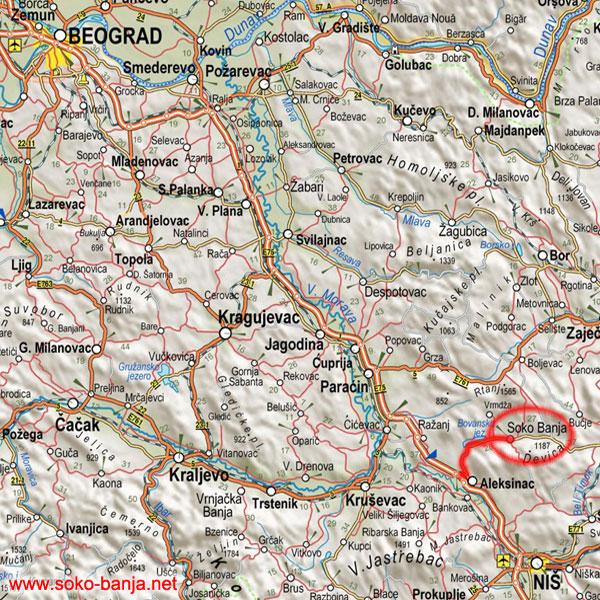 boljevac mapa Kako doći u Sokobanju boljevac mapa