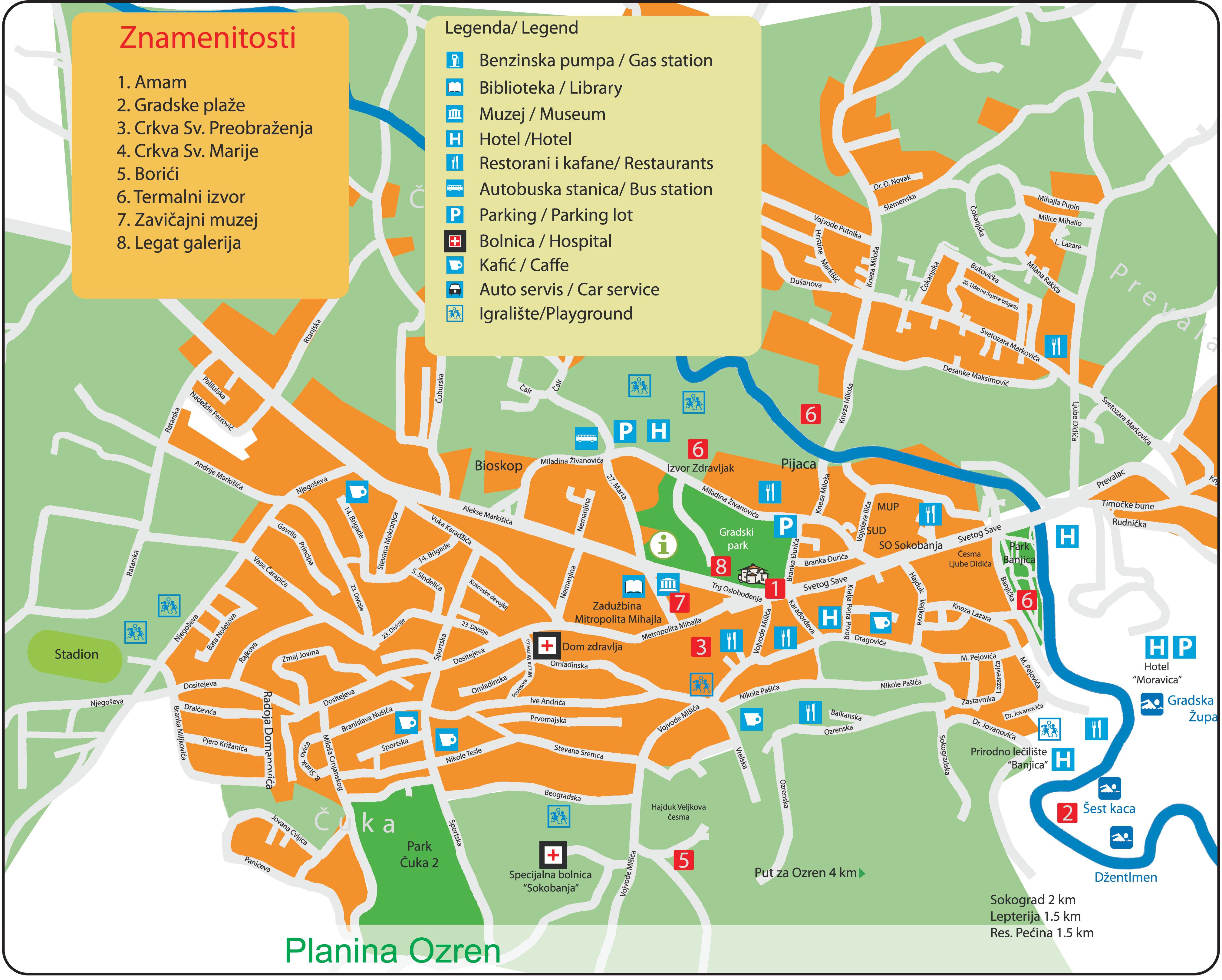 Mapa Sokobanje Plan Soko Banje